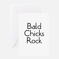 Bald Chicks Rock Greeting Card