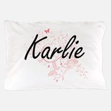 Karlie Artistic Name Design with Butte Pillow Case