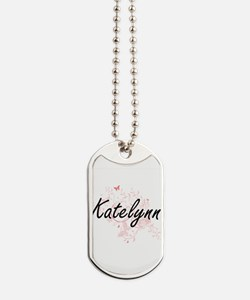 Katelynn Artistic Name Design with Butter Dog Tags