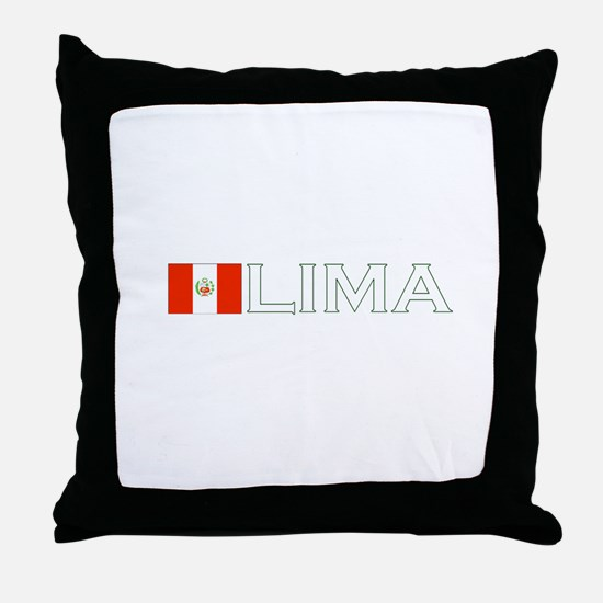 Lima, Peru Throw Pillow