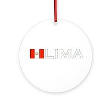 Lima, Peru Ornament (Round)