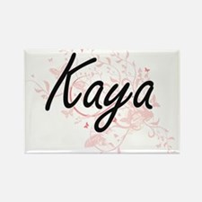 Kaya Artistic Name Design with Butterflies Magnets