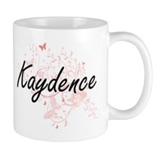 Kaydence Artistic Name Design with Butterflie Mugs