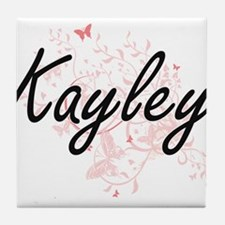 Kayley Artistic Name Design with Butt Tile Coaster