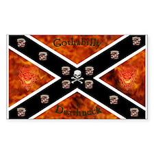 gothabilly deathneck sticker