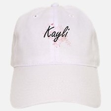 Kayli Artistic Name Design with Butterflies Baseball Baseball Cap