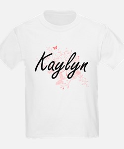 Kaylyn Artistic Name Design with Butterfli T-Shirt