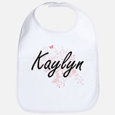 Kaylyn Artistic Name Design with Butterflies Bib