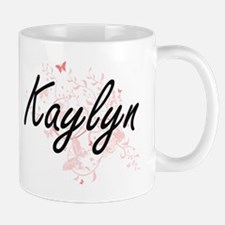 Kaylyn Artistic Name Design with Butterflies Mugs
