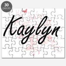 Kaylyn Artistic Name Design with Butterflie Puzzle