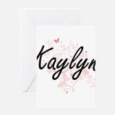 Kaylyn Artistic Name Design with Bu Greeting Cards
