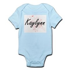 Kaylynn Artistic Name Design with Butter Body Suit