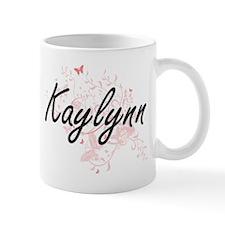 Kaylynn Artistic Name Design with Butterflies Mugs
