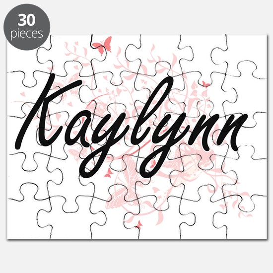 Kaylynn Artistic Name Design with Butterfli Puzzle