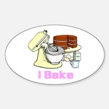 I Bake Oval Decal