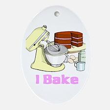 I Bake Oval Ornament