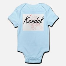 Kendal Artistic Name Design with Butterf Body Suit