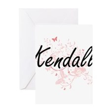 Kendall Artistic Name Design with B Greeting Cards