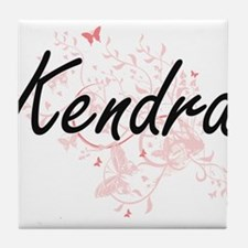 Kendra Artistic Name Design with Butt Tile Coaster