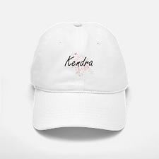 Kendra Artistic Name Design with Butterflies Baseball Baseball Cap