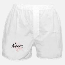 Kenna Artistic Name Design with Butte Boxer Shorts