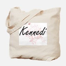 Kennedi Artistic Name Design with Butterf Tote Bag