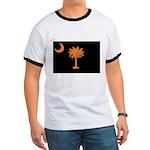 Orange and Black South Carolina Flag Ringer T
