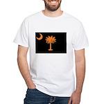 Orange and Black South Carolina Flag White T-Shirt