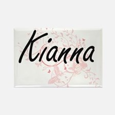 Kianna Artistic Name Design with Butterfli Magnets