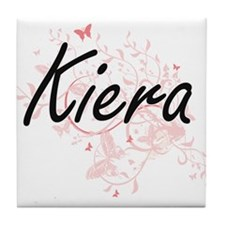 Kiera Artistic Name Design with Butte Tile Coaster
