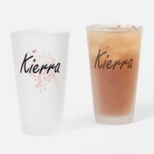 Kierra Artistic Name Design with Bu Drinking Glass