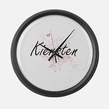Kiersten Artistic Name Design wit Large Wall Clock