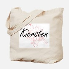 Kiersten Artistic Name Design with Butter Tote Bag