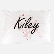 Kiley Artistic Name Design with Butter Pillow Case