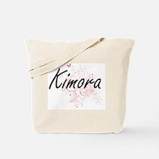 Kimora Artistic Name Design with Butterfl Tote Bag