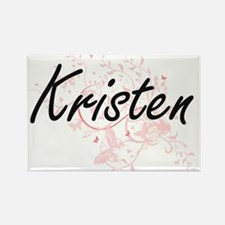 Kristen Artistic Name Design with Butterfl Magnets