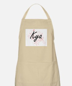 Kya Artistic Name Design with Butterflies Apron