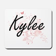 Kylee Artistic Name Design with Butterfl Mousepad