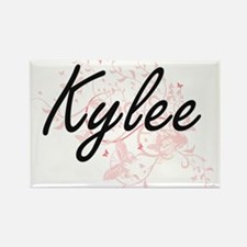 Kylee Artistic Name Design with Butterflie Magnets