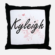 Kyleigh Artistic Name Design with But Throw Pillow