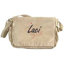Laci Artistic Name Design with Butte Messenger Bag