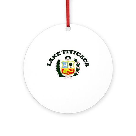 Lake Titicaca Ornament (Round)