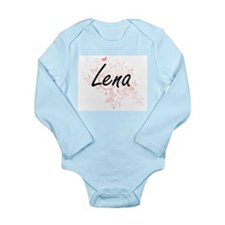 Lena Artistic Name Design with Butterfli Body Suit