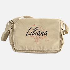 Liliana Artistic Name Design with Bu Messenger Bag