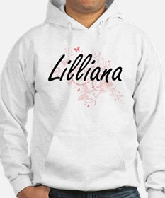 Lilliana Artistic Name Design wi Hoodie Sweatshirt