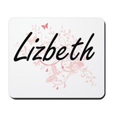 Lizbeth Artistic Name Design with Butter Mousepad