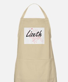 Lizeth Artistic Name Design with Butterflies Apron