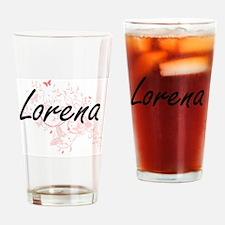 Lorena Artistic Name Design with Bu Drinking Glass