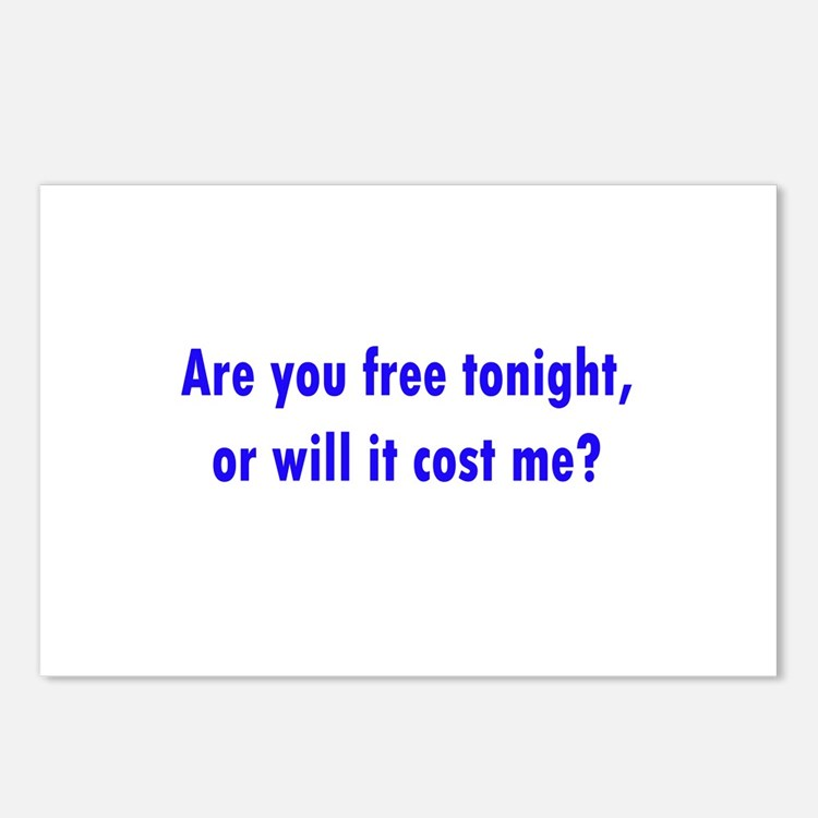 Are you free tonight? Postcards (Package of 8)