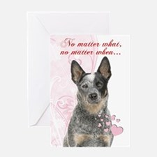 Cattle Dog Valentine Greeting Cards